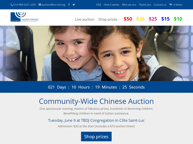 HA Chinese Auction